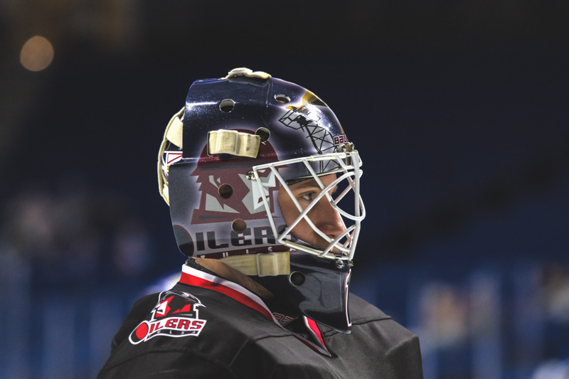 6c5c0aa2876 St. Louis Blues prospect Evan Fitzpatrick is 6-0-0-2 with the Tulsa Oilers  / Photo by Les Stockton